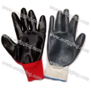 Nitrile coated Gloves (red)