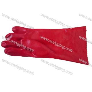 Oil resistant PVC gloves
