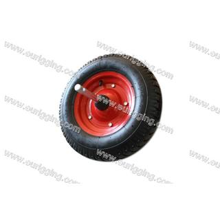 Wheel 400-8 4PR with metalic rim and shaft Φ20x360